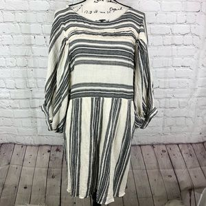 Free People Balloon Sleeves Striped Boho dress
